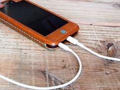 レザーiPhone5s ケース Kav'a(カヴァ)2 - ハンドメイドレザー小物 Hoppendakko WEB SHOP