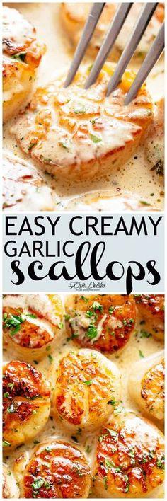 Creamy Garlic Scallops - Cafe Delites 11 SP