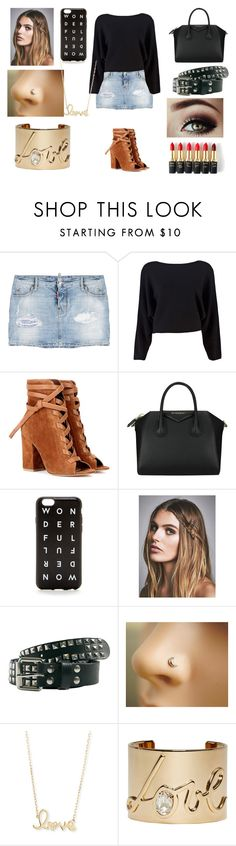 """""""Outfit Idea #26"""" by alliephil ❤ liked on Polyvore featuring Dsquared2, Maison Margiela, Gianvito Rossi, Givenchy, J.Crew, Free People, Sydney Evan, Lanvin and L'Oréal Paris"""