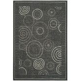 Found it at Wayfair - Courtyard Black/Sand Circle Outdoor Rug