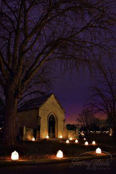 King Mountain NC,cemetery luminary (Christmas eve)