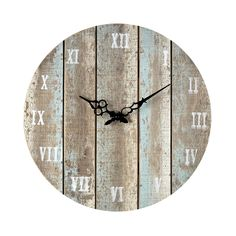Wooden Roman Numeral Outdoor Wall Clock 128-1009