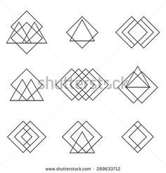 hipster geometric line logo - Google Search