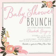 these bellies+brunch invitations are perfect for a joint baby, Baby shower invitations