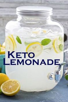 Harlan Kilsteins hausgemachte Keto-Limonade - Home Easy Lemonade Recipe, Homemade Lemonade Recipes, Keto Cookies, Ceviche, Keto Electrolyte Drink, Low Carb Keto, Low Carb Recipes, Keto Electrolytes, Best Lemonade