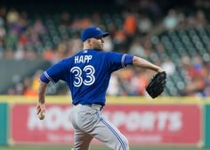 Led by Happ, Blue Jays' rotation leads AL = J.A. Happ was the first notable free agent to come off the board last winter.  The left-hander signed a three-year, $36 million contract with the Toronto Blue Jays on Nov. 27. The 33-year-old capitalized on.....