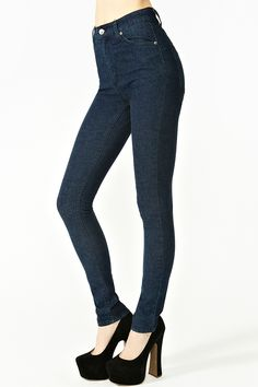 Second Skin Jeans - Dark Wash. need a pair of high waist dark skinnies and these are perfect!!!