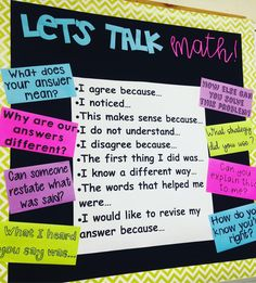 """124 Likes, 7 Comments - The Sweet Life In The Middle (@thesweetlifeinthemiddle) on Instagram: """"My friend teaches Middle School Math. I am stealing her bulletin board idea for accountable talk…"""""""