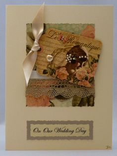 Handmade Card - Our Wedding Day No. 1 £3.50