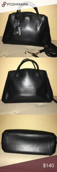 7adfdc55f78cfd Coach Margot Carry all purse in black Leather. Coach Black Leather Satchel.  In great