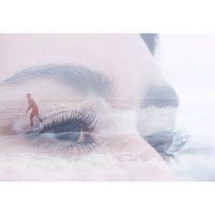 """#oceanside #sandiego #missionbeach #liveauthentic #surfing #eyes #doubleexposure"""""""