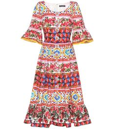 9694058b Shop for Printed cotton dress by Dolce & Gabbana from 2 retailers at  ShopStyle.