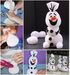 Creative Ideas - DIY Disney Frozen Olaf Sock Snowman Kids Crafts, Sock Crafts, Christmas Crafts For Kids, Christmas Projects, Kids Christmas, Holiday Crafts, Christmas Decorations, Cheap Christmas, Toddler Crafts