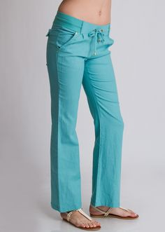 Front Tie Wide Leg Linen Pants #linenpants #widelegpants #casualpants #beachpants #drawstring #casual #style