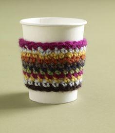 Free Crochet Pattern: Half Caf Cozy  #crochet #mug_cozy