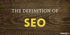 Quickly learn the definition of SEO in this GIF from @HubSpot.
