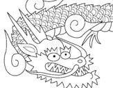 Dibujo de Dragón japones II para colorear