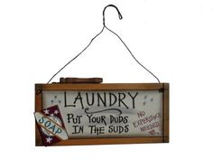 Duds In The Suds Laundry Sign by Ohio Wholesale, http://www.amazon.com/dp/B00AC8FJ06/ref=cm_sw_r_pi_dp_BaBdrb0R409BJ