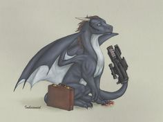 Agent Coulson Dragon - I love it, but he looks too worried. XD