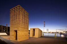 the tower seems like a wood analog to Jim's masonry patterns.