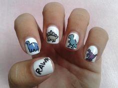 dinosaur nail art - Google Search
