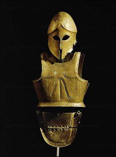 Helmet,same as and breasplate,450-400 BCE,from Ruec,Bulgaria  Arqueological Museum of Sofia