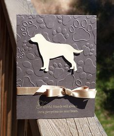 Paw Prints embossing folder (Darice) – My Bliss Scrapbook Cards, Scrapbooking, Box Photo, Pop Up Card, Pet Sympathy Cards, Embossed Cards, Cricut Cards, Animal Cards, Pretty Cards