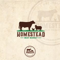 Create an eye-catching logo for our local butcher shop featuring grass-fed beef. by RockPort