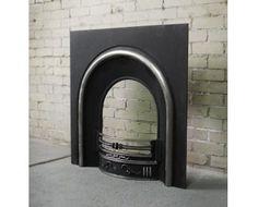 Constantine Cast Iron Fireplace Back Panel Set, 38 Inch