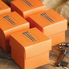 Examples of wedding favor boxes