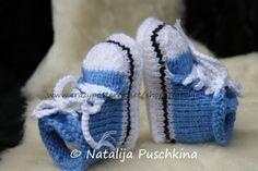 Strickanleitung Babyschuhe Converse Baby Chucks! Sehr süße Baby-Schuhe.  Super schöne Geschenk für frisch gebackene Mutti.