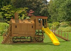 Castle Swing Set Plans | 941 happy train daze swingset 944 clickety clack station swingset