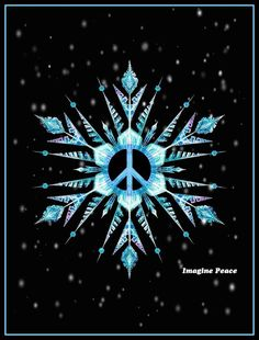 ☮ American Hippie Art ☮  Holiday .. Christmas Peace Sign