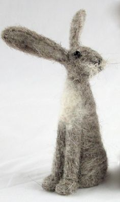Coriandr / jennymade / Needle Felt hare Kit...brown grey or white. grey please !  anyone???