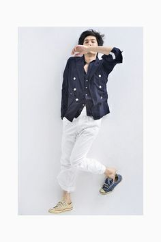 Takahiromiyashita-thesoloist_differents pair of shoes! Japanese Clothing Brands, The Soloist, Summer Collection, Cool Outfits, Menswear, Spring Summer, Style Inspiration, Mens Fashion, Jackets