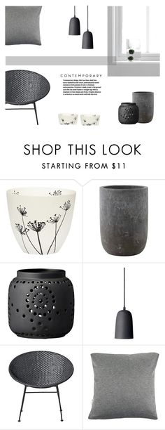 """Grey Space"" by canvas-moods ❤ liked on Polyvore featuring interior, interiors, interior design, home, home decor, interior decorating, Bloomingville, modern and contemporary"