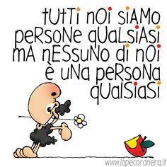 tutti noi siamo persone qualsiasi, ma nessuno di noi è una persona qualsiasi Thoughts, Comics, Funny, Quotes, Fictional Characters, Day Planners, Quotations, Qoutes, Ha Ha