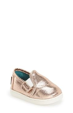 TOMS 'Metallic' Slip-On (Baby, Walker & Toddler) available at #Nordstrom