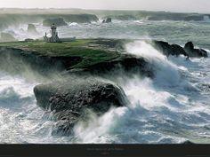 Avis de coup de vent sur les Poulains - Belle-ile - Morbihan - Bretagne