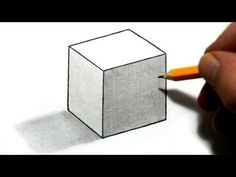 How to Draw a Cube - YouTube