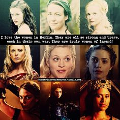 Hmm, I don't like Morgause or Morgana (after she turned evil.) I loooove Gwen (more before she became queen than after...) and Hunith, the most. :D