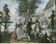 De bruiloft van Kloris en Roosje ca. 1740
