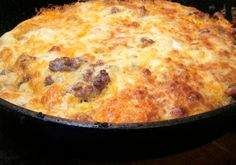 I forgot to get frozen hash browns, so I looked for a recipe that didn't call for them and found THIS! Crockpot Sausage and Egg Casserole Breakfast Desayunos, Breakfast Dishes, Breakfast Casserole, Breakfast Recipes, Breakfast Crockpot, Campfire Breakfast, Breakfast Ideas, Sausage Breakfast, Breakfast Souffle