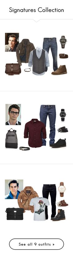 """""""Signatures Collection"""" by jexa101 on Polyvore featuring moda, Duck and Cover, Superdry, River Island, Clarks, Raymond Weil, Loro Piana, Naked & Famous, Kato y Daniel Wellington"""