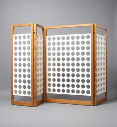 Egon Eiermann; Oregon Pine and Perforated Painted Plywood Screen for  Fa Philip Klaer, 1968.