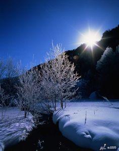 Dawn in Nagano, Japan.