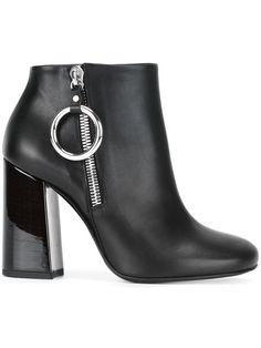 McQ Alexander McQueen varnished heel ankle boots