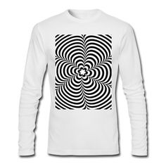 Tee shirt manches longues Optical illusion (Impossible) Black & White OP-Art #cloth #cute #kids# #funny #hipster #nerd #geek #awesome #gift #shop Thanks.