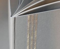 metallic embroidery on the cover