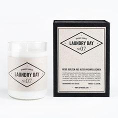 upwined燭光-laundryday白加香蠟燭在黑禮品盒